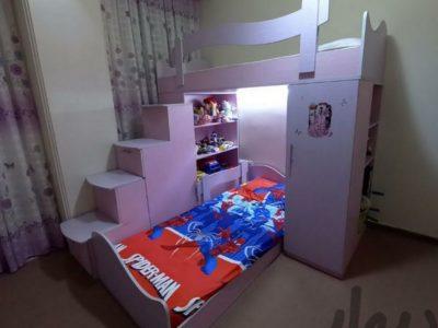 تخت خواب دوطبقه ی کودک ونوجوان